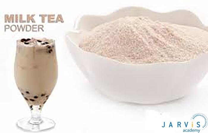 hướng dẫn các bước pha trà sữa bằng bột béo