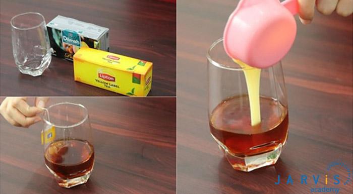 các bước pha trà sữa lipton