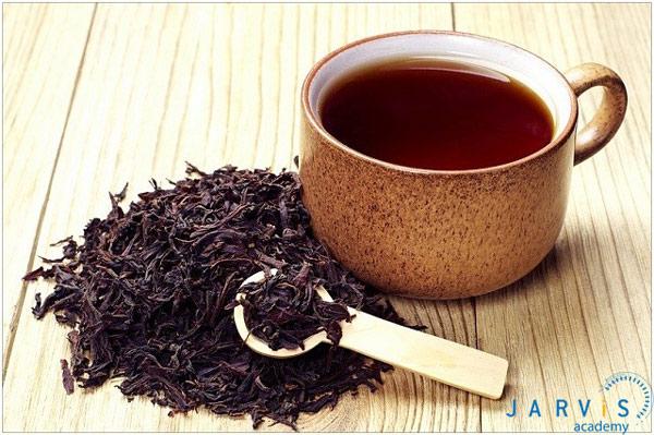 Hãm trà đen hoặc trà ô long lấy nước trà đặc