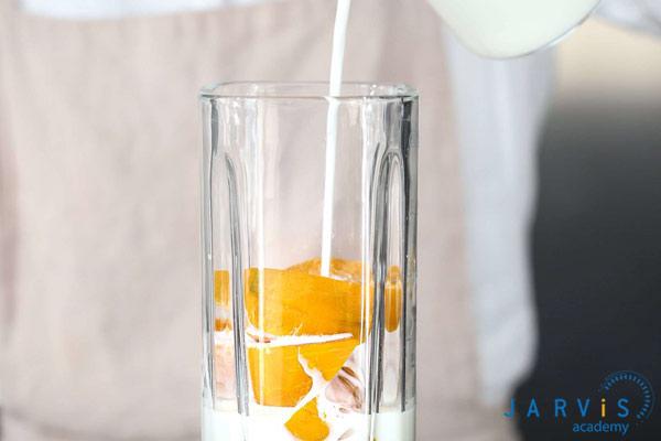 Cách làm trà sữa bí đỏ
