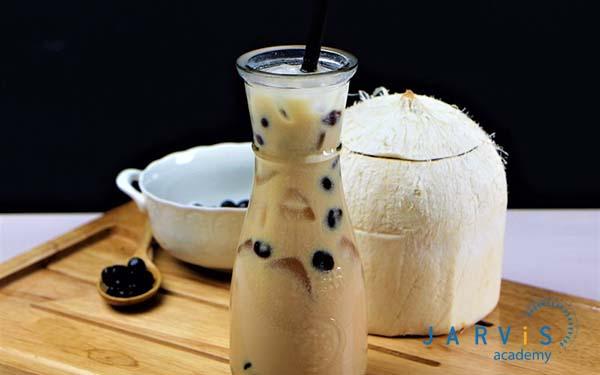 Trà sữa dừa phải có mùi thơm ngậy của nước dừa